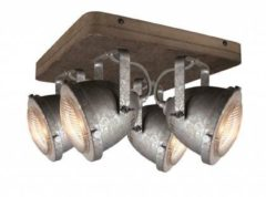 Grijze Freelight LT-Luce Spot Woody Vintage Old Grey 4 Lichts