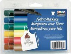 Marvy Uchida Textielstiften Bold Primair 6 Stuks