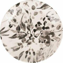 Grijze Coté Table Set van zes borden Black en White