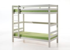 Witte Emob Claire - Stapelbed - Wit - 105 x 209 cm