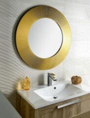 Sapho Sunbeam gouden ronde spiegel 90cm