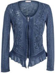 Strickjacke Alba Moda jeansblau