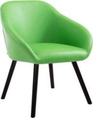 CLP Esszimmerstuhl HAMBURG mit hochwertiger Polsterung und Kunstlederbezug I Warteraumstuhl mit Holzgestell und Armlehne I verschiedene Farben