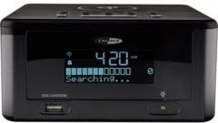 Zwarte Caliber Wekkerradio HCG010QiDAB-BT - met DAB+, groot LED display en draadloze Qi laadfunctie voor telefoon, tevens Bluetooth