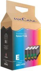 Inkcartridge Wecare Epson T128540 zwart + 3 kleuren