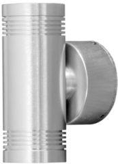 Konstsmide Monza 7930-310 Buiten LED-wandlamp Energielabel: LED (A++ - E) 6 W Warm-wit Aluminium
