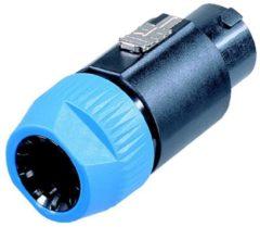 Neutrik NL8FC Luidsprekerconnector Stekker, recht Aantal polen: 8 Zwart, Blauw 1 stuks