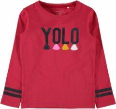 Name it t-shirt meisjes - rood - NMFlayolo - maat 80