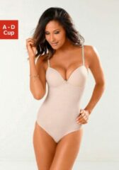 Naturelkleurige LASCANA push-up-body, geheel van kant
