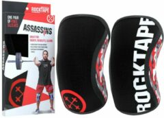 RockTape Assassins Knee Sleeves - Kniebraces - Rood Camo - 7 mm - S