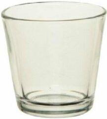 Merkloos / Sans marque 10x Theelichthouders/waxinelichthouders transparant glas 7 cm - Glazen kaarsenhouder voor waxinelichtjes 10 stuks