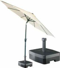Kopu® ronde stokparasol 300 cm Calma met voet - Naturel