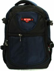 Rugzak Power - met laptop vak - 31x15x46 cm (9602-8) - blauw/zwart