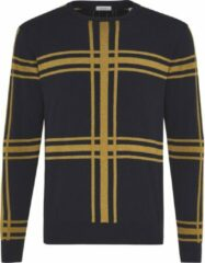 Gele TRESANTI Pullover - Geruite pullover - Pullover katoen/cashmere
