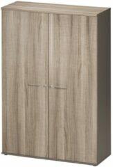 Gamillo Furniture Archiefkast Jazz Medium van 183 cm hoog in grijs eiken met grijs