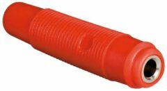 Hirschmann Gesoleerde Soepele Contra Banaanstekker Voor Banaanstekkers 4mm / Rood (kun 30)