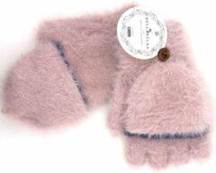 Winter TRANSFORMER-OPENVINGER CARESS Handschoenen van BellaBelga - roze