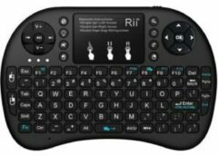 Rii Mini Wireless Keyboard i8+ RF Draadloos QWERTY Engels Zwart toetsenbord