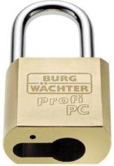 Burg Wächter 116 PC 50 HB 80 Niro Hangslot Messing #####Profilzylinder-Vorhangschloss