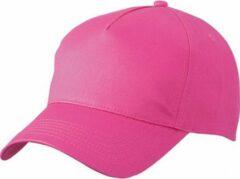 Myrtle Beach 10x stuks 5-panel baseball petjes /caps in de kleur fuchsia roze voor volwasenen - Voordelige roze caps