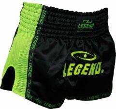 Legend Sports Kickboks broekje neon groen mesh Legend Trendy XL