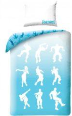 Fortnite Dance - Dekbedovertrek - Eenpersoons - 140 x 200 cm - Blauw