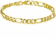 Goudkleurige The Jewelry Collection For Men ZilGold Armbamd 5000101 Geelgoud Gourmet 8 mm 22,5 cm