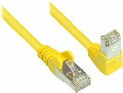 S-Conn S-Impuls S/FTP CAT6 Gigabit netwerkkabel haaks/recht / geel - 2 meter