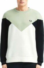 Groene Fred Perry Chevron Sweatshirt Chevron Sweatshirt Heren Trui Maat XL