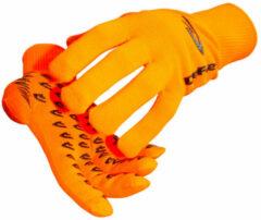 Oranje DeFeet E-Touch Dura fluor handschoenen - Handschoenen