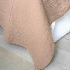 Town & Country Bedsprei Denver Stonewash Oud Roze 2 Persoons Bedsprei 260 X 260 Cm