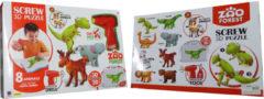 ARO toys 3D schroefpuzzel met 8 wilde dieren