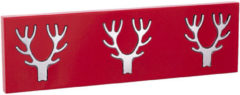 Rode Best Home Products wandkapstok 3-delig rood