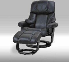 Solliden Camo fauteuil met hocker zwart.