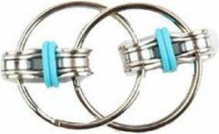 Togadget Autisme - ADHD Anti Stress fidget speelgoed - Sleutelhanger - Hand Spinner - Fidget Lager - Tri-Spinner -Blauw