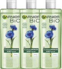 Garnier Bio Micellair Reinigingswater met Verzachtende Korenbloem - 3 x 400 ml - Voordeelverpakking Micellair Water voor ieder huidtype