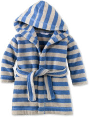 Hessnatur Baby Bademantel aus Bio-Baumwolle – blau – Größe 86/92