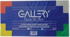 Witte Gallery Enveloppen Ft 114 X 229 Mm, Met Venster Rechts, Stripsluiting, Pak Van 50 Stuks