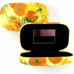Gele LANZFELD Lipstick-lens-reis doosje, Zonnebloemen Vincent van Gogh