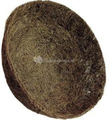 Bruine Voorgevormde inlegvel kokos voor hanging basket 35 cm - kokosinleggers / plantenbak van kokos