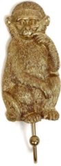 Lucy's Living Wandhaak Toekan - brons/goud - 13 x 10 cm - woonaccessoires - decoratie - halaccessoires