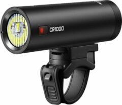 Zwarte Ravemen CR1000 fiets koplamp USB oplaadbaar T-lens met afstandsbediening – 1000 lumen