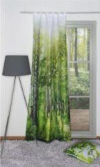 Sonstiges SCHMIDTGARD STOFFE Deko-Schlaufenschal NewCastle, 245x120 cm, grün, Digitaldruck