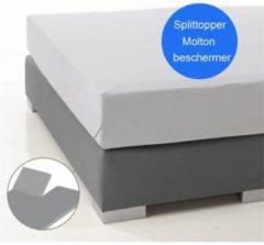 Witte Ambianzz Waterdichte matrasbeschermer voor splittopper 160x200cm - 100% Katoen