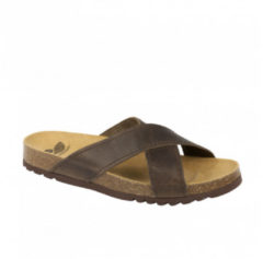 DR.SCHOLL'S Div.Footwear Dr Scholl Tangor Ciabatta Uomo Fasce Incrociate Colore Brown Misura 46