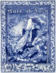 Donkerblauwe Royal Delft Schiffmacher Royal Blue Tattoo Rock of Ages serveerschaal 23 x 17 cm