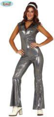 Guirca Jaren 80 & 90 Kostuum | Zilveren Dana Disco Dancing | Vrouw | Maat 38-40 | Carnaval kostuum | Verkleedkleding