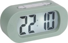 Karlsson Wekkers Alarm clock Gummy rubberized Groen