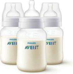 PHILIPS AVENT Set van 3 antikoliekflessen Classic + - Antikolieksysteem - 260 ml