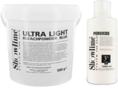 [Combo] Showtime Ultralight Blondeerpoeder (500gram) + Showtime Oxidant Creme Peroxide 3% - (1000ml)